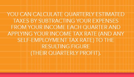 Calculating quarterly taxes
