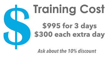 Spokane training seminar costs